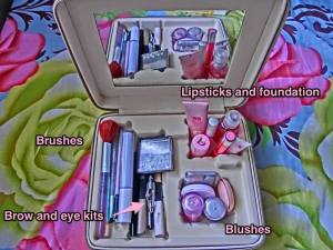 Works as a make up organizer. :)