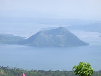 A portion of Taal VOlcano